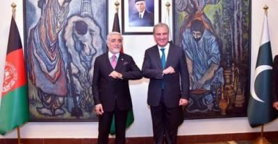 افغا ن مفاہمتی کونسل کے چیئرمین ڈاکٹر عبداللہ عبداللہ کی وزیر خارجہ شاہ محمود قریشی سے ملاقات