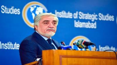 پاکستان نے افغان امن عمل میں سہولت فراہم کرنے کا اہم کردار ادا کیا ہے:عبداللہ عبداللہ