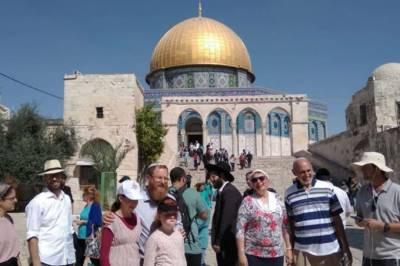 مقبوضہ بیت المقدس:درجنوں یہودی آباد کاروں کی جانب سے مسجد اقصیٰ کی بے حرمتی