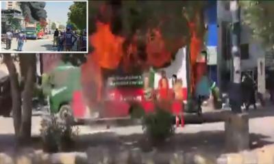 کراچی: فلاحی ادارے کی گاڑی میں آتشزدگی، 1 زخمی