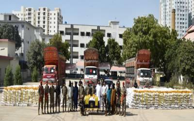 پاکستان کوسٹ گارڈزکی کاروائیاں،چھالیہ اور انڈین گٹکا برآمد