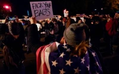 صدارتی انتخابات،تعدد امریکی شہریوں میں مظاہرے اور گرفتاریاں