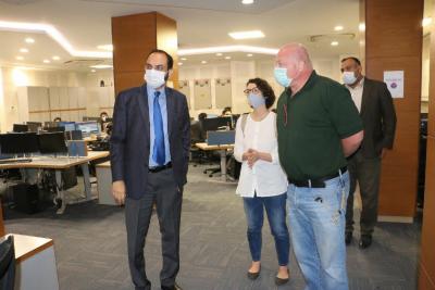 اقوام متحدہ کے فیلڈ سیکیورٹی کوآرڈینیشن آفیسر ہربرٹس کوئبکے کا وفد کے ہمراہ سیف سٹیز اتھارٹی کا دورہ