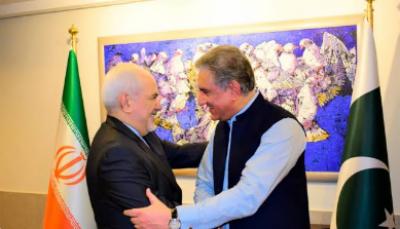 ایرانی وزیر خارجہ ڈاکٹر جواد ظریف کی وزارتِ خارجہ میں وزیر خارجہ مخدوم شاہ محمود قریشی سے ملاقات