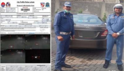 سیف سٹیز کیمروں کے ذریعے 83ای چالان کرنے والی نادہندہ گاڑی پکڑ لی گئی