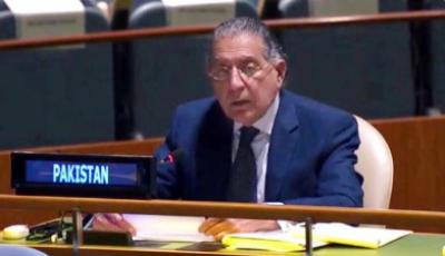 بھارت اقوام متحدہ کی سلامتی کونسل کا مستقل رکن بننے کا اہل نہیں ہے: منیر اکرم