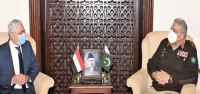 مصر کیساتھ ہر شعبے میں تعلقات کو مزید فروغ دینا چاہتے ہیں: آرمی چیف