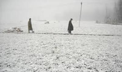 مقبوضہ وادی کشمیر میں برفباری اور بارشیں، معمولات زندگی متاثر