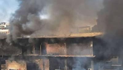 کراچی: مہندی کے کارخانے میں آتشزدگی سے 3 افراد جاں بحق