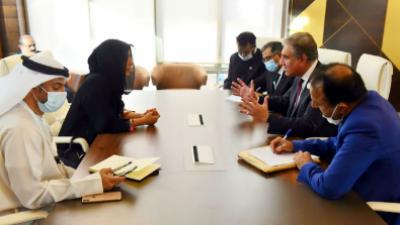 شاہ محمود کی اماراتی بین الاقوامی تعاون کے امور کی وزیر مملکت سے ملاقات