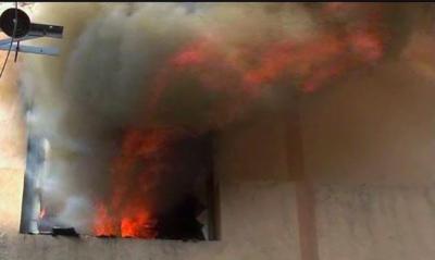 لاہور ہوٹل کے قریب پلازہ میں آگ لگ گئی