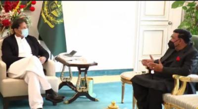 وزیراعظم عمران خان سے وزیرداخلہ شیخ رشید کی ملاقات