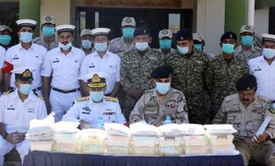 پاک بحریہ اور اینٹی نارکوٹکس فورس کا مشترکہ آپریشن،بھاری مقدار میں منشیات برآمد
