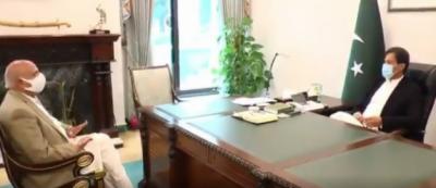 وزیرِ اعظم عمران خان کی گورنر پنجاب چوہدری محمد سرور سے ملاقات