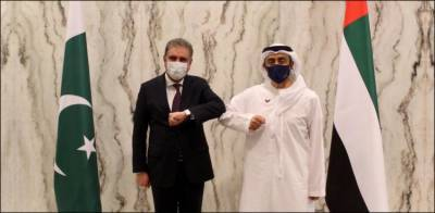 شاہ محمود قریشی کی اماراتی وزیرخارجہ سے اہم ملاقات