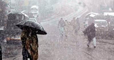 ملک کے بالائی علاقوں میں آج سے بارش کا امکان