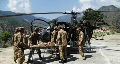 پاک فوج کا ایوی ایشن ہیلی کاپٹر باعث گلگت بلتستان میں گر کر تباہ، 4 جوان شہید