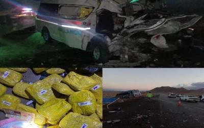 مستونگ:حادثے کا شکار ایمبولینس سے بڑی مقدار میں چرس برآمد