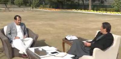 وزیرِ اعظم عمران خان سے وزیرِ اعلی گلگت بلتستان محمد خالد خورشید خان کی ملاقات