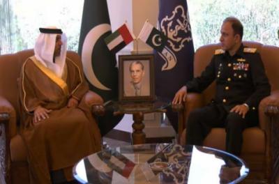امیر البحر ایڈمرل محمد امجد خان نیازی سے متحدہ عرب امارات کے سفیر کی ملاقات ہوئی