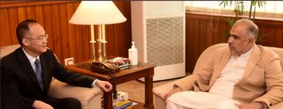 اسپیکر قومی اسمبلی سے چین کے سفیر کی ملاقات ملاقات میں دوطرفہ تعلقات