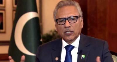 پاکستان کشمیریوں کی جدوجہدکی ہرممکن حمایت جاری رکھےگا، صدر پاکستان