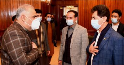 اسپیکر قومی اسمبلی سے اسپیکر گلگت بلتستان اسمبلی سید امجد علی زیدی کی پارلیمنٹ ہاؤس میں ملاقات