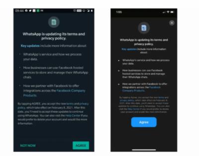 واٹس ایپ کی نئی پالیسی، اتفاق نہ کرنے والے صارف کا اکاؤنٹ ڈیلیٹ کرنے کا اعلان