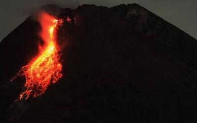 انڈونیشیا،سب سے زیادہ فعال آتش فشاں پھٹ گیا