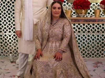 بختاور بھٹو کی شادی کے جوڑے کے حوالے سے سوشل میڈیا پر پھیلی قیاس آرائیوں کی حقیقت سامنے آگئی۔