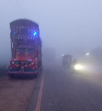 شہراقبال، بڈیانہ، پسرور، موترہ، ڈسکہ، بیگووالہ، سمبڑیال اور ائیرپورٹ کے علاقوں میں شدید دھند