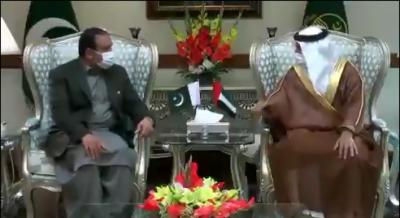 وزیراعلیٰ پنجاب سردار عثمان بزدار سے متحدہ عرب امارات کے سفیر حماد عبید ابراہیم سلیم الزیبی کی ملاقات