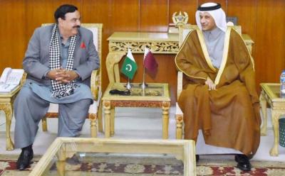 شیخ رشید کی پاکستان میں قطر کے سفیر سعود عبدالرحمن الثانی سے ملاقات, باہمی دلچسپی کے امور پر تبادلہ خیال