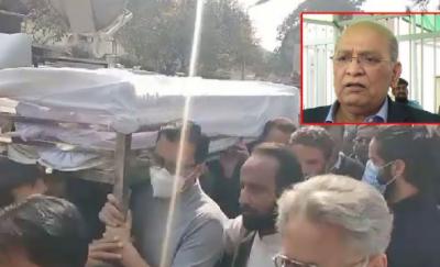 مسلم لیگ ن کے سینیٹر مشاہد اللہ کی نماز جنازہ ادا