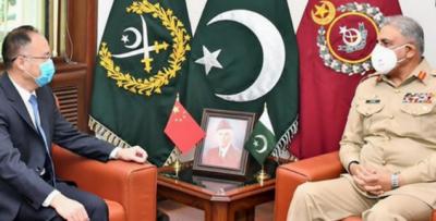 جنرل قمر جاوید باجوہ سے چینی سفیر کی ملاقات,چینی سفیر نے علاقائی امن و استحکام کیلئے پاکستان کے کردار کوسراہا