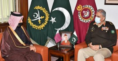 آرمی چیف جنرل قمرجاوید باجوہ سے قطری خصوصی نمائندے کی ملاقات, باہمی دلچسپی اورعلاقائی سیکیورٹی،باہمی تعاون پربات چیت