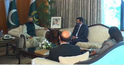 صدر ڈاکٹر عارف علوی سے ازبکستان میں پاکستان کے نامزد سفیر سید علی اسد گیلانی نے اسلام آباد میں ملاقات کی