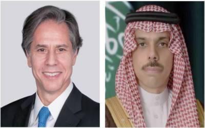 سعودی وزیرخارجہ کا امریکی ہم منصب سے ٹیلی فونک رابطہ