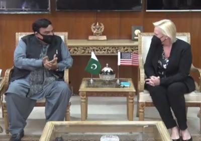 امریکہ کی قائم مقام سفیر انجیلا پی ایگلر سے ملاقات, باہمی دلچسپی کے امور پر بات چیت