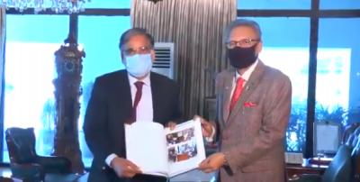 صدر ڈاکٹر عارف علوی سے وفاقی محتسب سید طاہر شہباز کی ملاقات