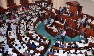 لاہور: پنجاب اسمبلی اجلاس میں اپوزیشن کا شور شرابہ،