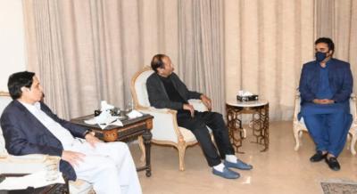 پاکستان پیپلزپارٹی کے چیئرمین بلاول بھٹو زرداری ن کی چوہدری شجاعت حسین اور چوہدری پرویز الٰہی سے ملاقات