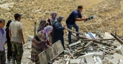 اسرائیلی دہشتگردی:گذشتہ دو ہفتوں کے دوران فلسطینیوں کی 35 املاک مسمار