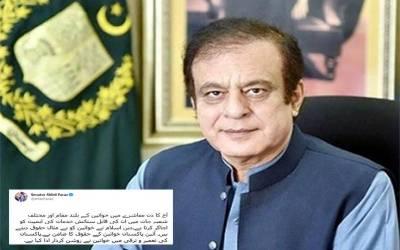 وفاقی وزیر اطلاعات سینیٹر شبلی فراز کا یوم خواتین پر خواتین کے لئے پیغام