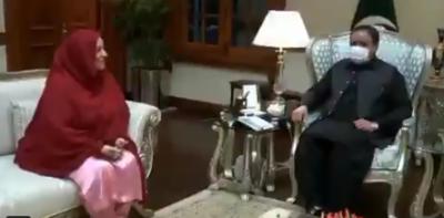 وزیر اعلی پنجاب سردار عثمان بزدار سے رکن قومی اسمبلی غلام بی بی بھروانہ کی ملاقات
