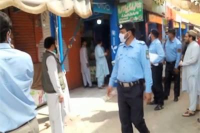 اسلام آباد: کورونا ایس او پیز کی خلاف ورزی پر کریک ڈاون، 660 دکانیں بند، مارکیز سیل