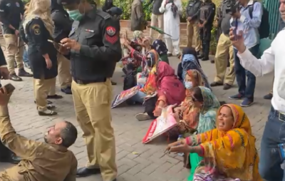 احتجاجی اساتذہ سندھ اسمبلی سے وزیراعلیٰ ہاؤس پہنچ گئے