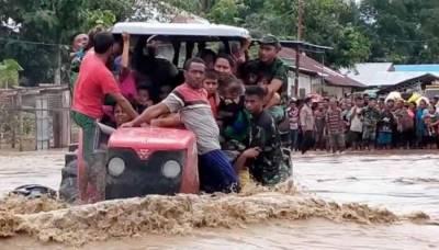انڈونیشیا اور مشرقی تیمور میں طوفان، 76 افراد ہلاک اور متعدد لاپتا