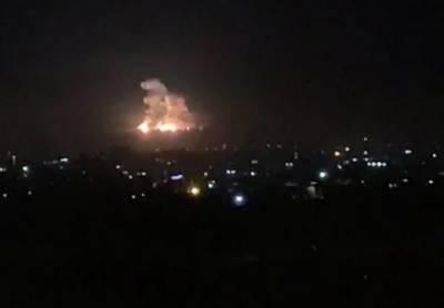 اسرائیلی فوج کی شام کے شہر دمشق میں اسلحہ گودام پر بمباری