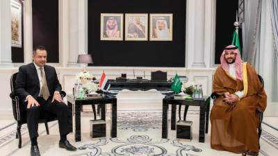 سعودی نائب وزیر دفاع کی یمن کے وزیراعظم سے اہم ملاقات